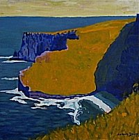 painting of cliffs oh Moher
