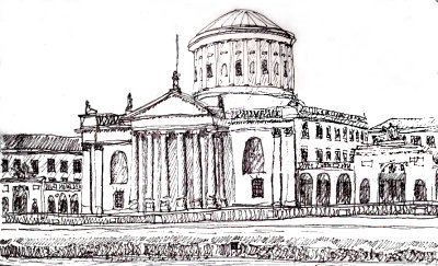 Four Courts Drawing