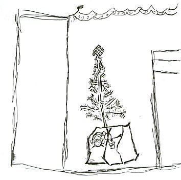 Quinn's Drawing of Our Christmas Tree