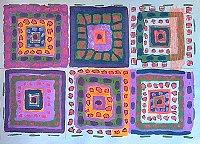 painting of six squares
