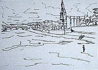 ink drawing of Ballina