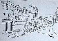 ink drawing of Bandon