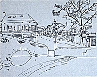 ink drawing of Westport